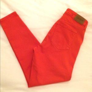 Ralph Lauren clementine orange skinny jeans sz 8